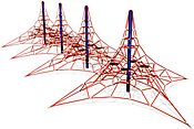 Playground Equipment :: Commercial Structures :: Net Climbers :: Meteor Nets